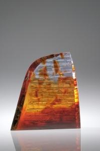 Peter Bremers, Rim Rock Curve, 2014, Kiln-cast glass, 14x12x3